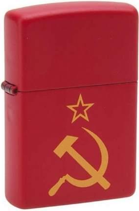 Зажигалка Zippo №233 Серп И Молот Red Matte