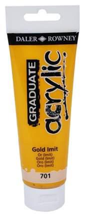 Акриловая краска Daler Rowney Graduate золотой 120 мл