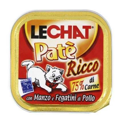 Консервы для кошек Lechat, говядина, печень куриная, 32шт по 100г