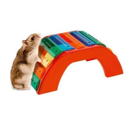 Мостик для хомяков Ferplast BRIDGE, пластиковый, разноцветный, 17 x 8,5 x 7 см