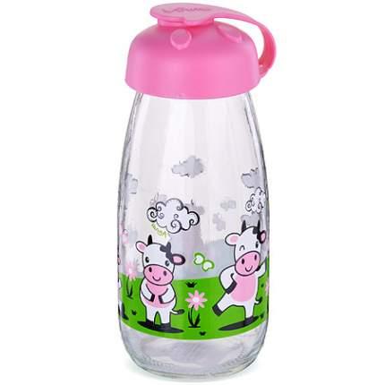 Бутылка для напитков стекло 0,25 л РОЗОВАЯ MB(х24) 80539-2