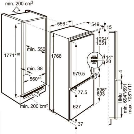Встраиваемый холодильник Electrolux ENC2854AOW White
