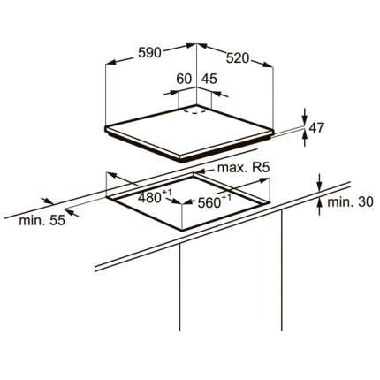 Встраиваемая варочная панель газовая Electrolux EGT96342YX Silver