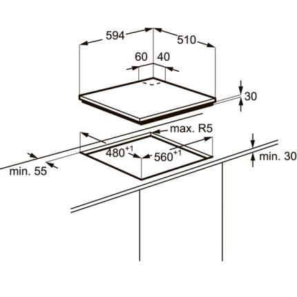 Встраиваемая варочная панель газовая Zanussi ZGG966424M Beige