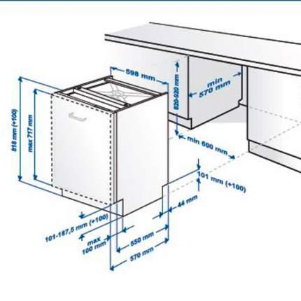 Встраиваемая посудомоечная машина 60 см Beko DIN 15310