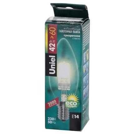 Лампочка Uniel HCL-42/CL/E14Cand. галогенная