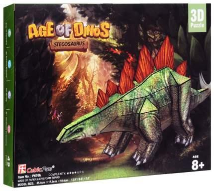 Пазл Cubic Fun 3D P670h Эра Динозавров Стегозавр