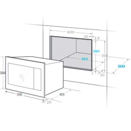 Встраиваемая микроволновая печь Midea TG925B8D-WH