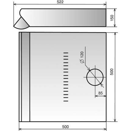 Вытяжка подвесная ELIKOR Призма 50П-290-П3Л White