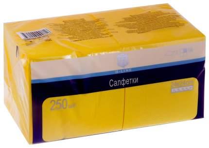 Бумажные салфетки H-Line однослойные желтые 24*24 см 250 штук