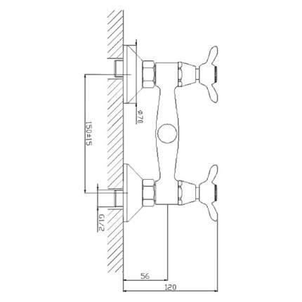 Смеситель для душа Rossinka Silvermix Silvermix Q02-41 хром