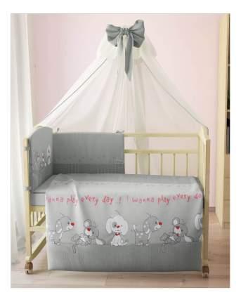 Комплект детского постельного белья Тополь Фея Веселая игра серый