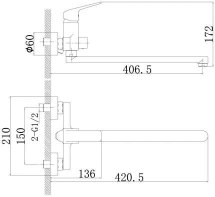 Смеситель универсальный Rossinka Silvermix RS37-32 хром