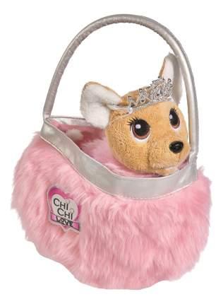 Мягкая игрушка Chi Chi Love плюшевая собачка Chi Chi Love Принцесса с пушистой сумкой