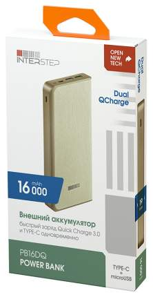 Внешний аккумулятор InterStep PB16DQ 16000 мА/ч Beige