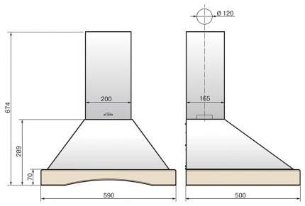 Вытяжка купольная Elikor Оптима Wood 60 Beige