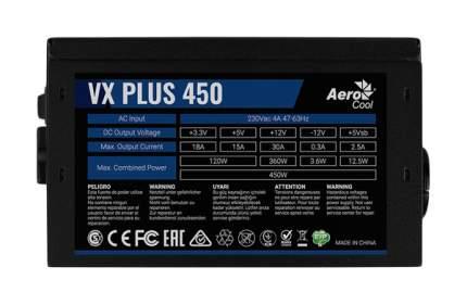 Блок питания компьютера Aerocool VX PLUS 450