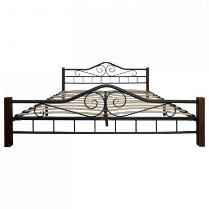 Кровать Мебелик 140х200 см, коричневый/черный