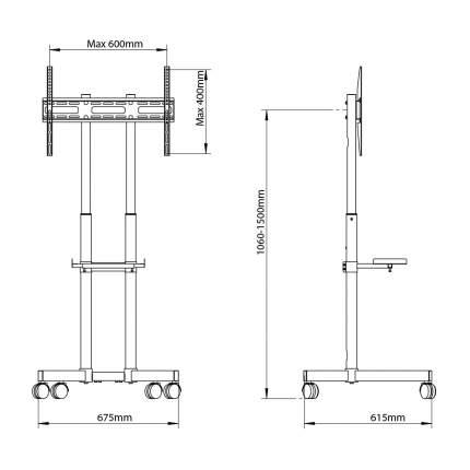 Мобильная стойка напольная для LED/LCD телевизоров Arm media PT-STAND-7 black