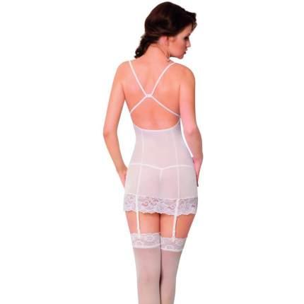 Ночная сорочка с пажами для чулок и стринги SoftLine Collection Kate, белый, S/M 184226