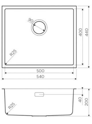 Кухонная мойка OMOIKIRI Tadzava 44-U-IN Quadro нержавеющая сталь