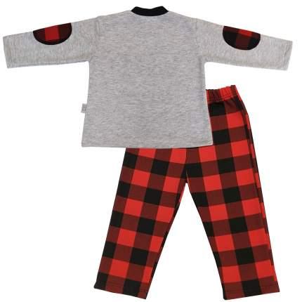 Пижама детская Папитто, цв. белый; красный р.86