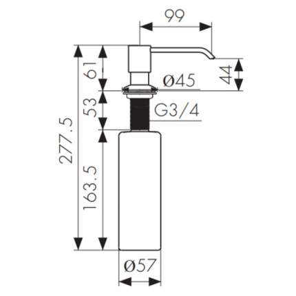 Дозатор для кухонной мойки Kaiser KH-3005 Silver
