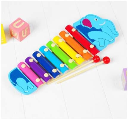 """Музыкальная игрушка """"Металлофон. Слоник"""", 8 тонов Sima-Land"""