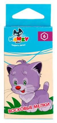 Мелки восковые шестигранные 6 цв, KNY-260501, от KANZY