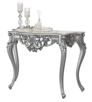 Туалетный столик с зеркалом Мэри-Мебель КН-01+ЗК-01, серебро, 122х48х82/70х8х106 см