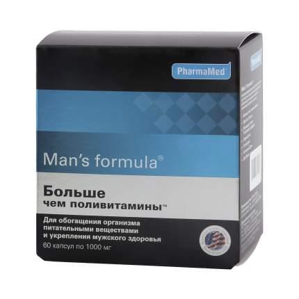 Man's formula PharmaMed больше чем поливитамины 1 г 60 капсул