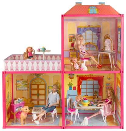 Дом для кукол Карапуз три комнаты с мебелью (B72906-S-HU)