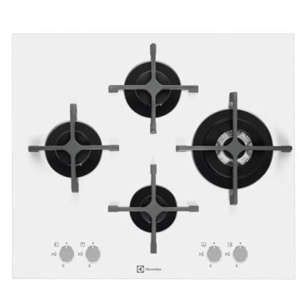 Встраиваемая варочная панель газовая Electrolux EGT96343LW White