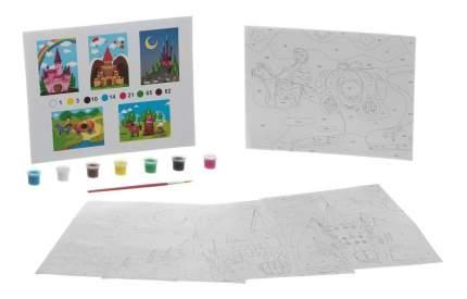 Набор рисуем по номерам с акрил кр., Bondibon сказочный замок, 22x29 см