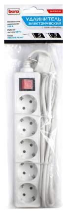 Сетевой удлинитель Buro BU-PS5.3/W 3м (5 розеток) белый (пакет ПЭ)