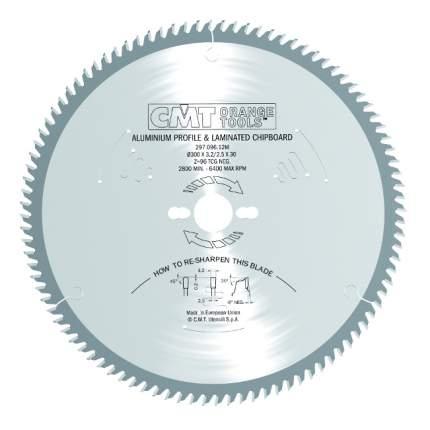 Диск пильный 350x30x3,2/2,5 -6° TCG Z=108 297.108.14M