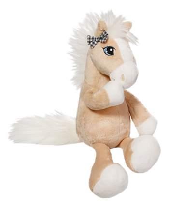 Мягкая игрушка NICI Лошадка Даймонд бежевая, сидячая, 35 см