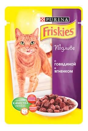 Влажный корм для кошек Friskies, с говядиной и ягнеком в подливе, 100г