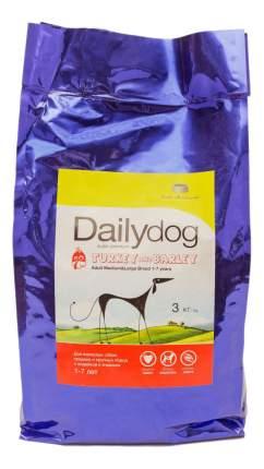 Сухой корм для собак Dailydog Adult Medium-Large Breed, индейка, ячмень, 3кг