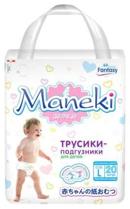 Подгузники-трусики Maneki Fantasy L (9-14 кг), 20 шт.