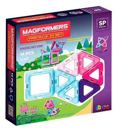 Конструктор Magformers магнитный Pastelle 14 деталей