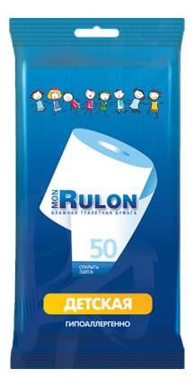Туалетная бумага Mon rulon детская влажная 50 шт.