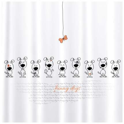 Штора для ванной Tatkraft Funny Dogs 180x180 см
