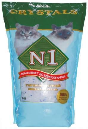 Наполнитель N1 Crystals силикагелевый 5 л 2.04 кг без запаха