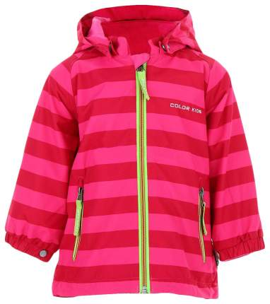 Куртка ColorKids 102051, размер 62-68 см, цвет полоска: темно-розовая, розовая