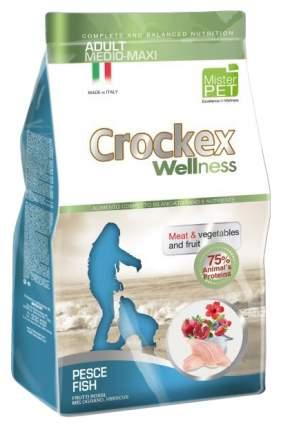 Сухой корм для собак Crockex Wellness Adult Medio-Maxi, рыба, рис, 12кг