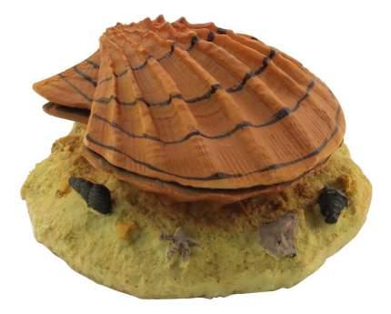 Грот для аквариума Laguna Раковина с жемчужиной 249KA, полиэфирная смола, 14,5х13х6,5 см
