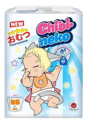 Подгузники для новорожденных MANEKI Chibi-neko NB (до 5 кг), 60 шт.
