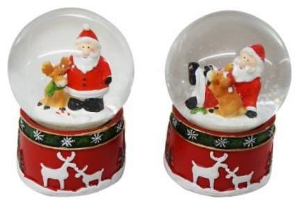 Снежный шар Новогодняя сказка Дед Мороз с оленем 6,5 см 972492
