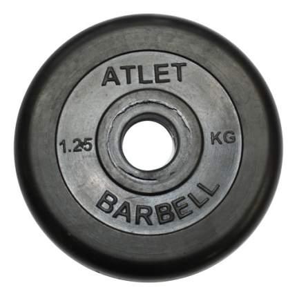 Блин обрезиненный MB Barbell Atlet 1,25 кг сталь MB-AtletB31-1,25 31 мм черный